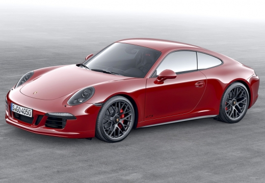 PORSCHE 911 coupe czerwony jasny przedni lewy