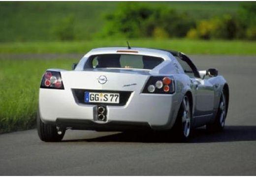 OPEL Speedster roadster silver grey tylny prawy