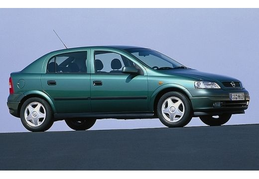 OPEL Astra II hatchback zielony przedni prawy