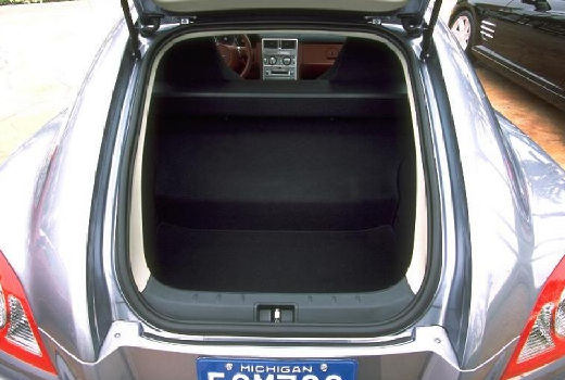 CHRYSLER Crossfire I coupe silver grey przestrzeń załadunkowa