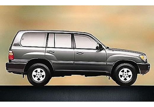 Toyota Land Cruiser kombi szary ciemny boczny prawy