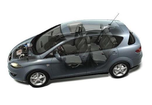SEAT Toledo III hatchback szary ciemny przekrój