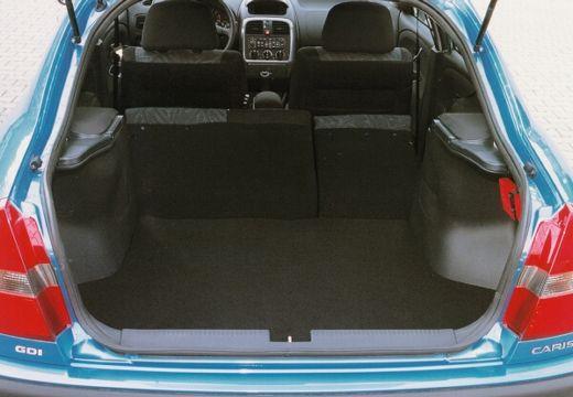 MITSUBISHI Carisma II hatchback niebieski jasny przestrzeń załadunkowa