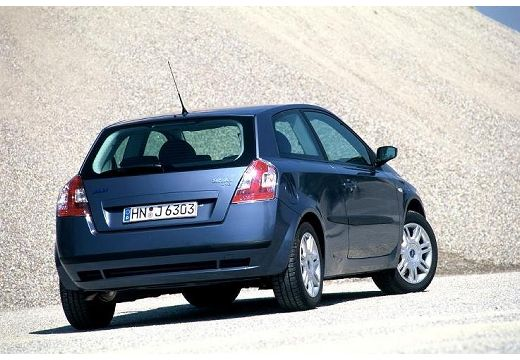 FIAT Stilo III hatchback niebieski jasny tylny prawy