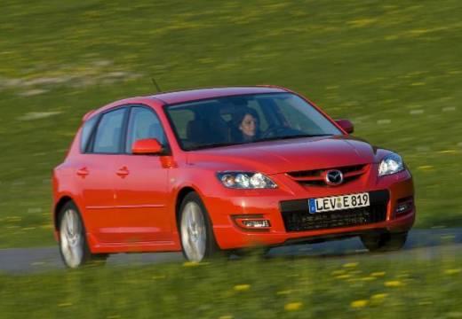 MAZDA 3 II hatchback czerwony jasny przedni prawy