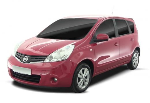 NISSAN Note hatchback czerwony jasny