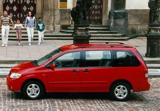 MAZDA MPV II van czerwony jasny boczny lewy