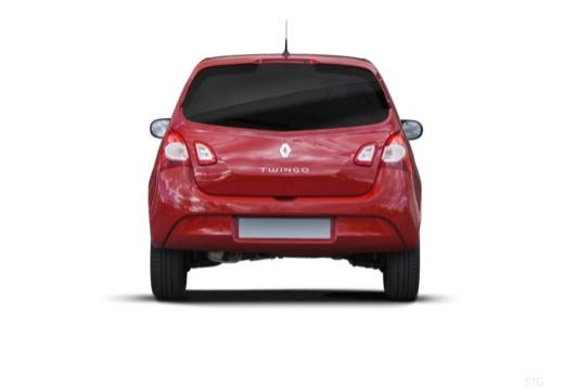 RENAULT Twingo V hatchback czerwony jasny tylny