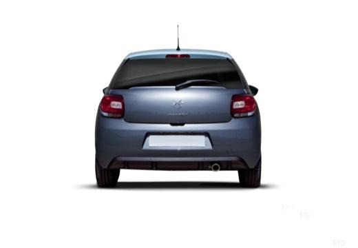 CITROEN DS3 I hatchback szary ciemny tylny