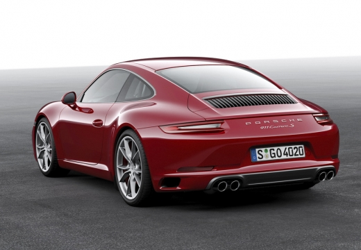 PORSCHE 911 coupe czerwony jasny tylny lewy