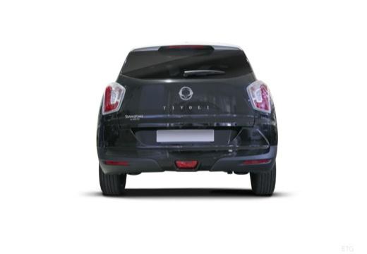 SSANG YONG Tivoli hatchback czarny tylny