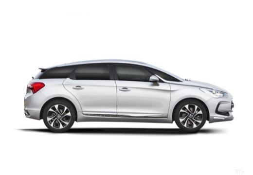 CITROEN DS5 I hatchback silver grey boczny prawy