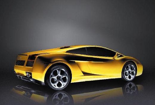 LAMBORGHINI Gallardo I coupe żółty tylny prawy