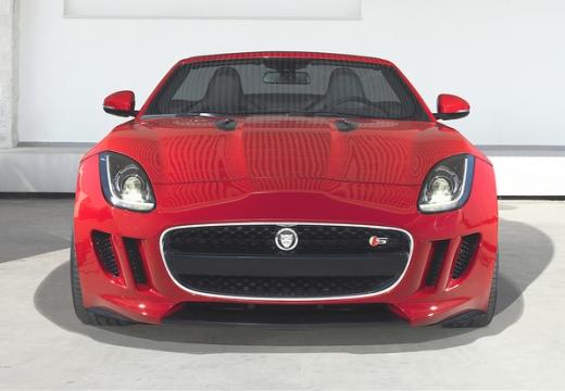 JAGUAR F-Type kabriolet czerwony jasny przedni