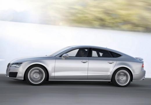 AUDI A7 Sportback I hatchback silver grey boczny lewy