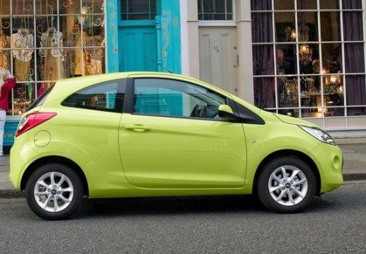 FORD Ka hatchback zielony boczny prawy