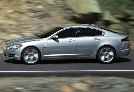 JAGUAR XF I sedan silver grey boczny lewy