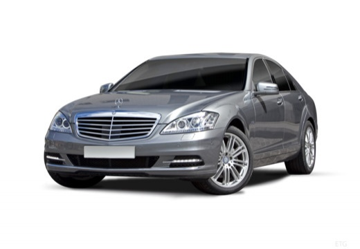 MERCEDES-BENZ Klasa S sedan silver grey przedni lewy