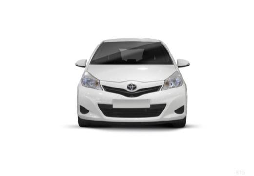 Toyota Yaris hatchback biały przedni