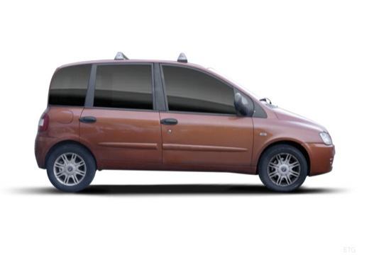 FIAT Multipla kombi pomarańczowy boczny prawy