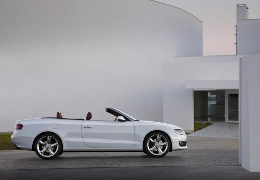 AUDI A5 Cabriolet I kabriolet biały boczny prawy