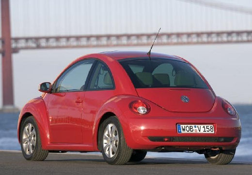 VOLKSWAGEN New Beetle coupe czerwony jasny tylny lewy