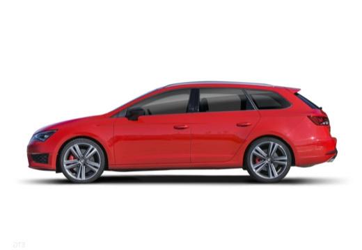 SEAT Leon ST I kombi czerwony jasny boczny lewy