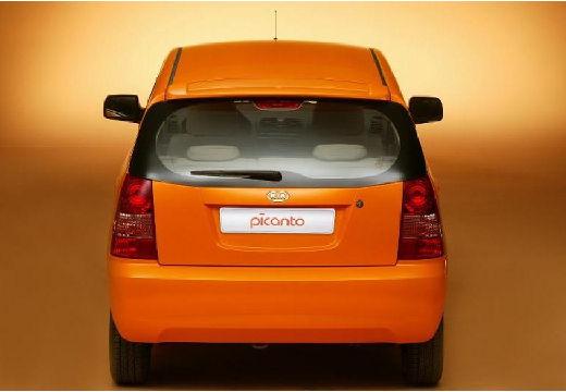 KIA Picanto I hatchback pomarańczowy tylny