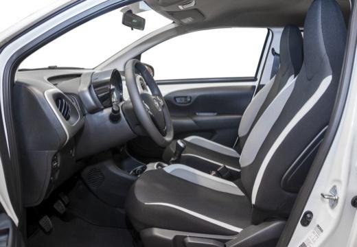 Toyota Aygo IV hatchback biały wnętrze
