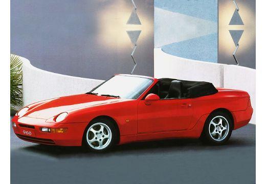 PORSCHE 968 kabriolet czerwony jasny przedni lewy