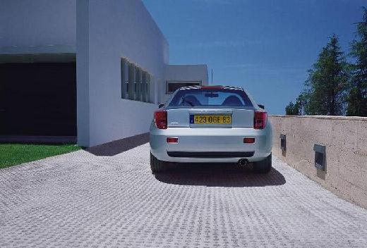 Toyota Celica coupe silver grey tylny