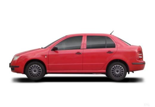 SKODA Fabia I sedan czerwony jasny boczny lewy