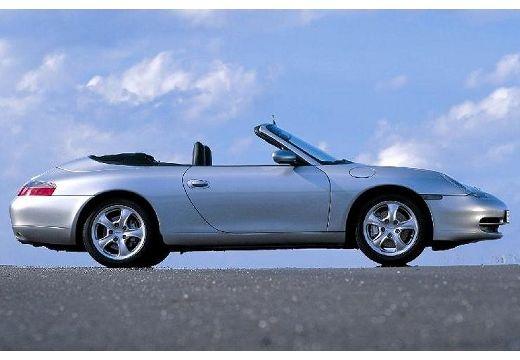PORSCHE 911 Cabrio 996 kabriolet silver grey boczny prawy