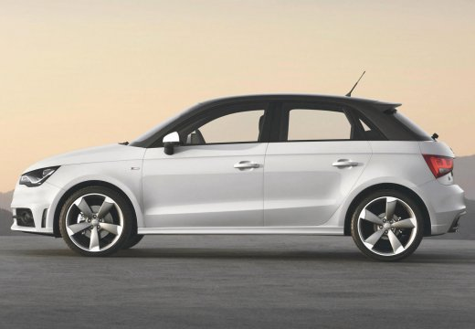 AUDI A1 Sportback I hatchback biały boczny lewy