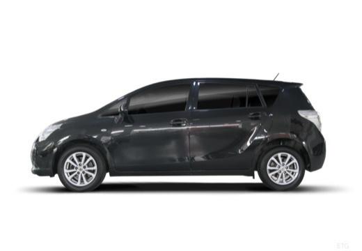 Toyota Verso I kombi mpv czarny boczny lewy