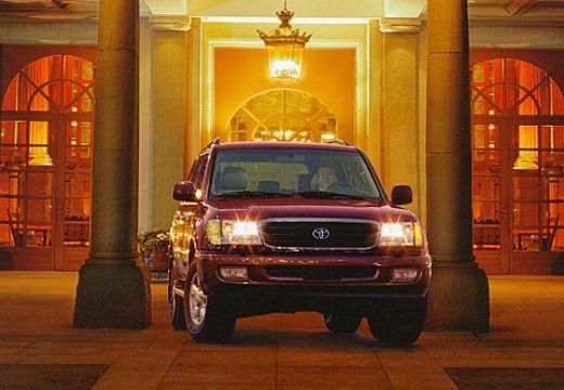 Toyota Land Cruiser 100 I kombi bordeaux (czerwony ciemny) przedni