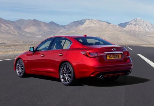 INFINITI Q50 sedan czerwony jasny tylny lewy