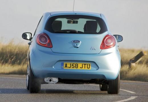 FORD Ka II hatchback niebieski jasny tylny