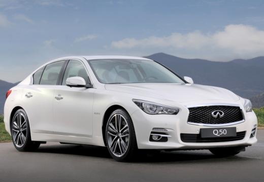 INFINITI Q50 sedan biały przedni prawy