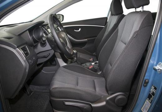 HYUNDAI i30 III hatchback niebieski jasny wnętrze