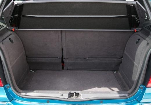 MERCEDES-BENZ Klasa A W 168 II hatchback przestrzeń załadunkowa