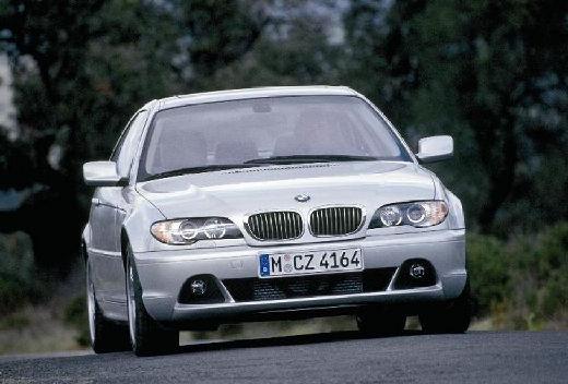 BMW Seria 3 coupe silver grey przedni prawy