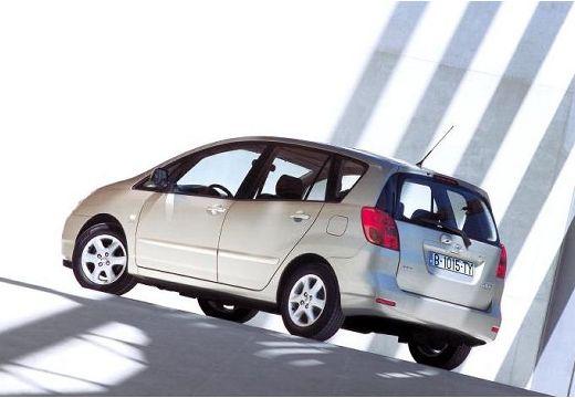 Toyota Corolla Verso I kombi mpv silver grey tylny lewy