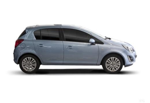 OPEL Corsa D II hatchback niebieski jasny boczny prawy