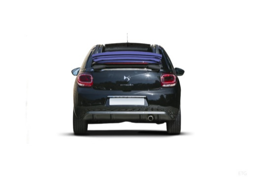 CITROEN DS3 Cabrio kabriolet czarny tylny