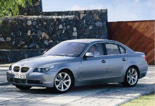 BMW Seria 5 E60 I sedan silver grey przedni lewy