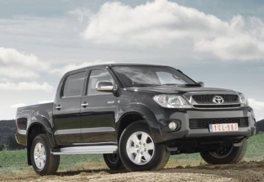 Toyota HiLux pickup szary ciemny przedni prawy