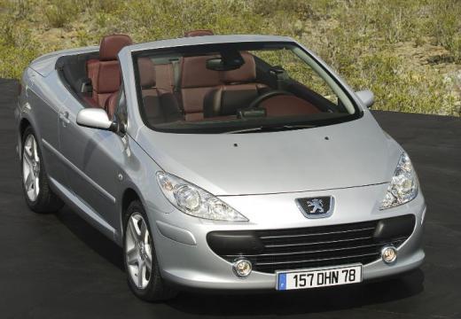 PEUGEOT 307 CC II kabriolet silver grey przedni prawy