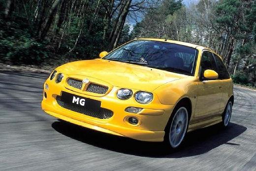 MG ZR hatchback żółty przedni lewy