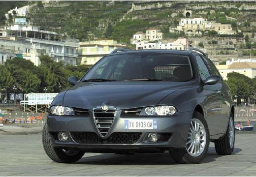 ALFA ROMEO 156 kombi czarny przedni lewy